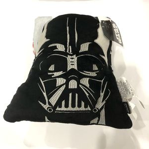 Star Wars Darth Vader Nogginz Character Pillow with 40 x 50 Travel Blanket Gift Set